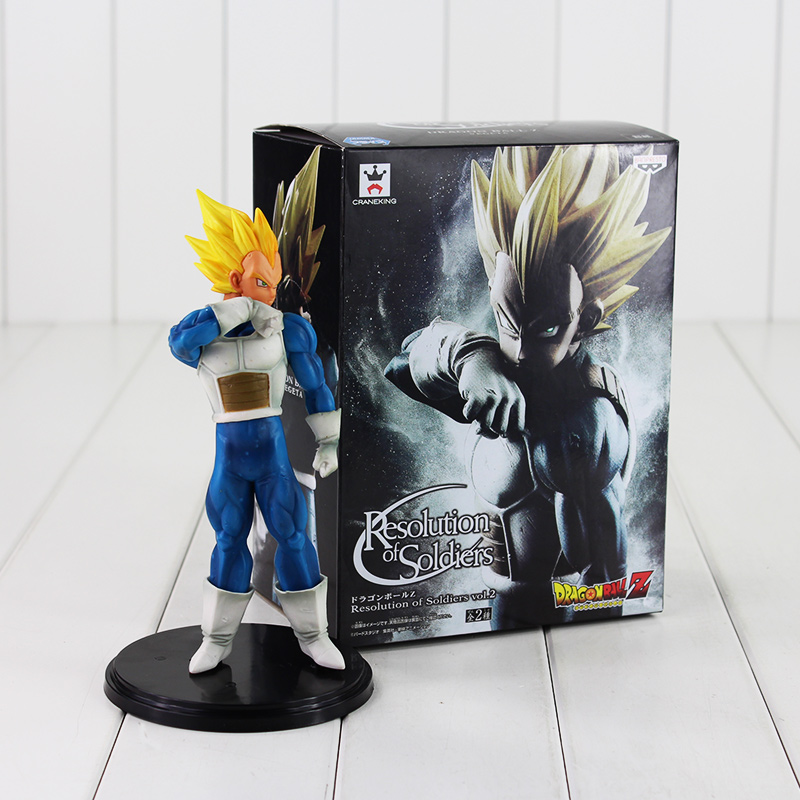 Us 811 23 Off20cm Anime Dragon Ball Z Figure Toy Vegeta Banpresto Cool Model Doll Resolution Of Soldiers Gift For Children In Action Toy Figures