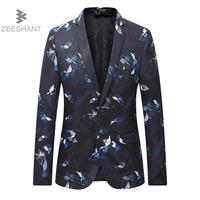 ZEESHANT Men Blazer 2018 New Suit Men Casual Jacket Terno Masculino Latest Coat Designs Blazers Men Clothing Plus Size M-6XL