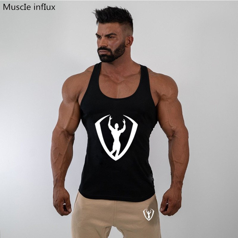 Brand New Bodybuilding   Tank     Top   Men Gyms-Clothing Stringer Fitness Gyms Shirt Brand Clothing Muscle Workout Cotton   Tank     Top