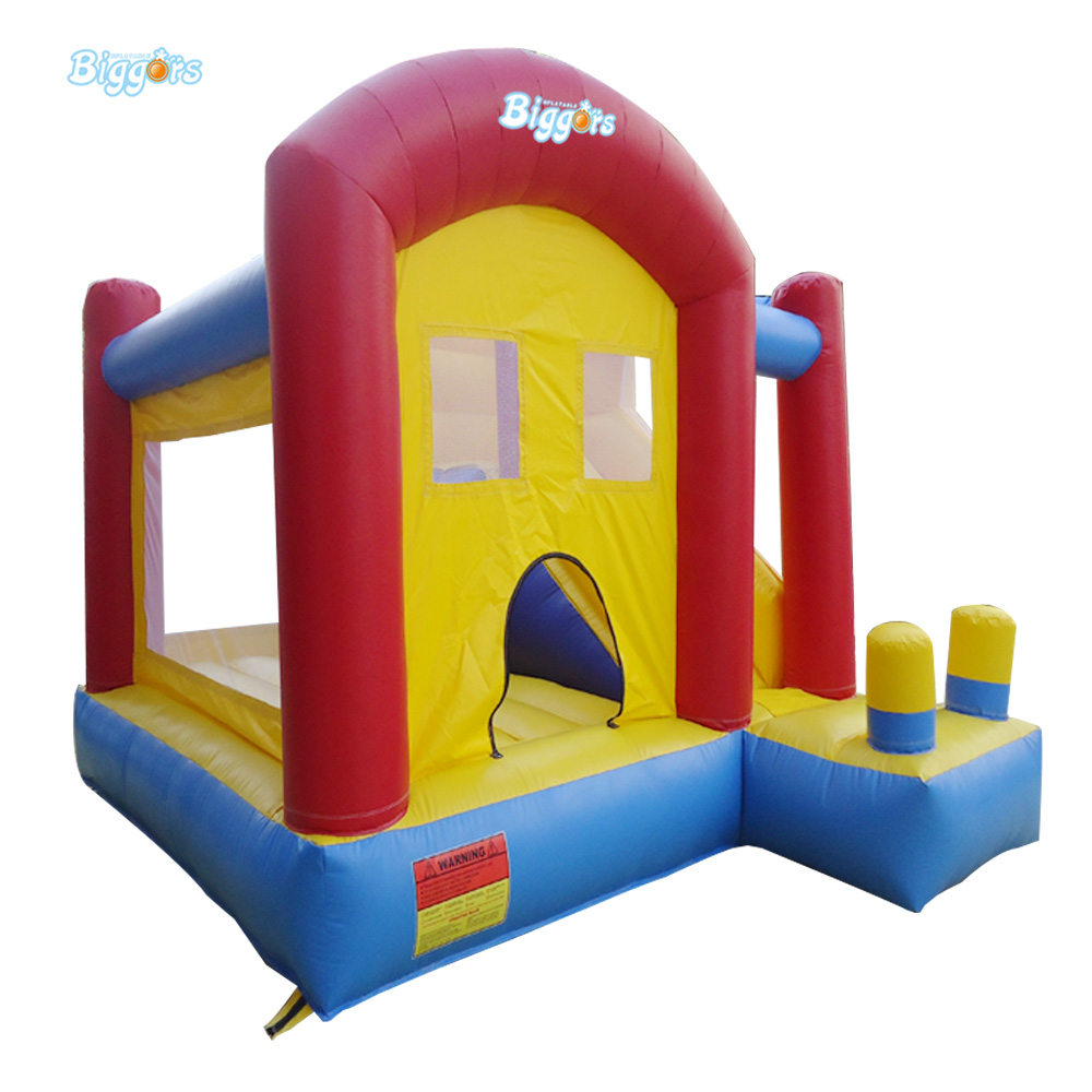 Factory Price Inflatable Small Bouncer Bounce House with Slide commercial sea inflatable blue water slide with pool and arch for kids