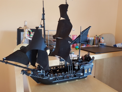 lepin 16006 Pirates The Black Pearl model Building kits Blocks 4184 Caribbean Pirates ship Compatible with lego kid gift set 804pcs pirate series pirates of the caribbean 16006 black pearl model building blocks sets bricks toys compatible with lego