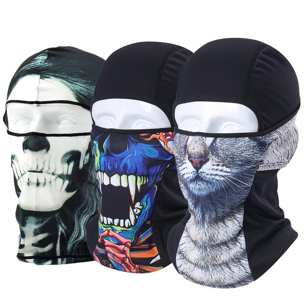 3D Animal Balaclava Face Shield Combat   Skullies   Hats Cat Dog Skull Neck Warmer   Beanie   Snowboard Bicycle Full Face Mask Men Women