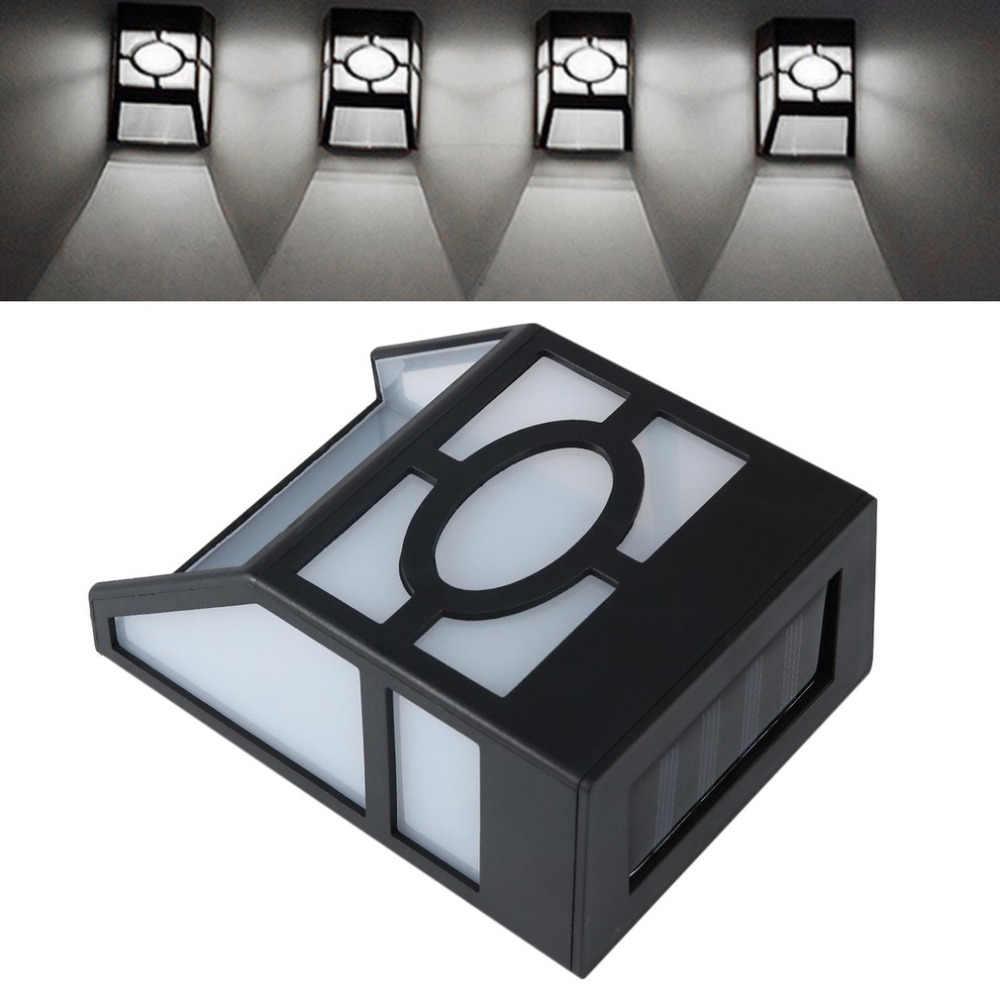Impermeable Solar Powered LED montaje en pared luz de bajo consumo de energía Super brillante exterior jardín camino lámpara de luz de cerca