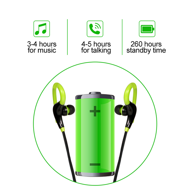Bass Wireless Earphones Bluetooth Ear Hook Sport Running Headphone For Xiaomi iPhone Samsung Android phone Headset