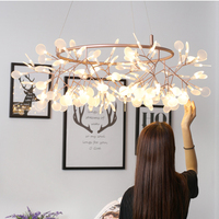 2017 Creative Led Firefly Chandelier Nordic Art Personality Villa Dining Room Bedroom Chandelier Warm And Simple