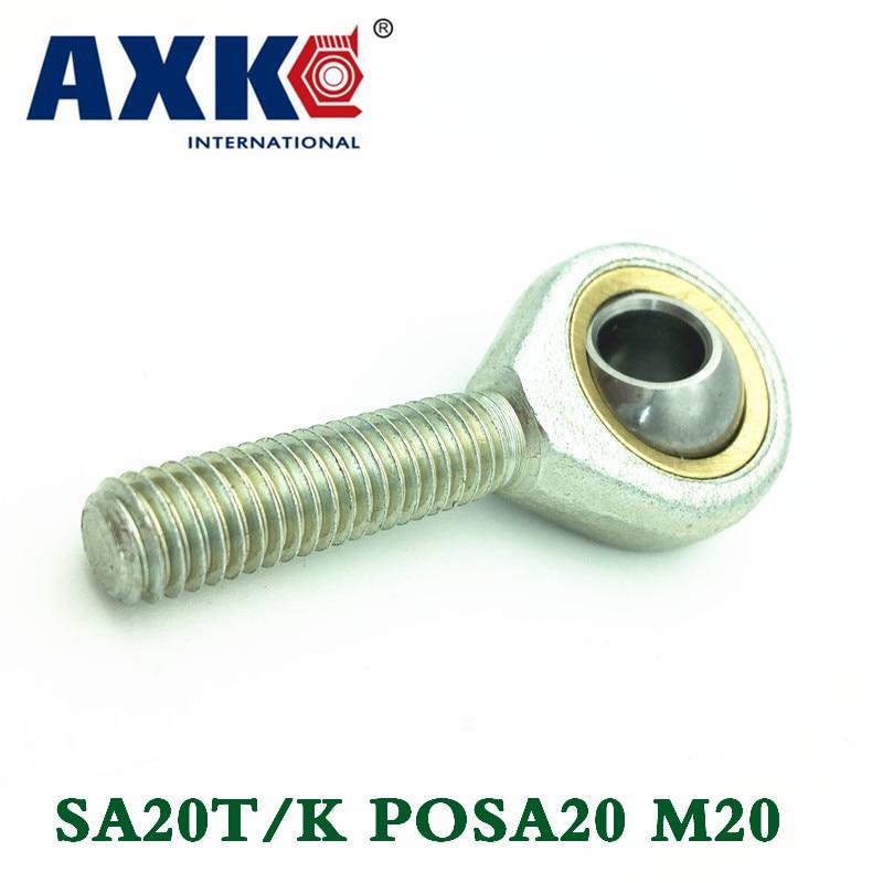 4pcs/lot 20mm Male Right Hand Thread Rod End Joint Bearing Metric Thread M20x1.5mm Sa20t/k Posa20 M20 1pcs lot 20mm male right hand thread rod end joint bearing metric thread m20x1 5mm sa20t k posa20