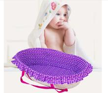 Corn woven Hot Baby Nursery Cribs Toddler Bed Infant Sleeping Cribs Handmade Baby Bed Basket Boy Girls Travel Folding Bed Toddle baby portable baby bed anti tipi sleeping bag comfort station folding bed cabarets sleeping basket bed