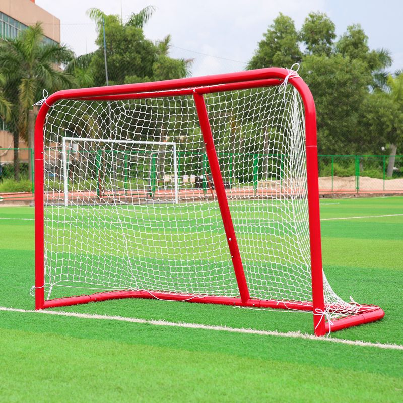 Sports Mini Hockey Goal Outdoor/Indoor Kids Sports Soccer & Ice Hockey Goals with Balls and Pump Practice Scrimmage Game folding soccer goal portable child pop up soccer goals for kids sports training backyard playground outdoor sports high quality