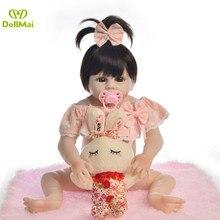 Muñeca de silicona de cuerpo completo suave para bebé recién nacido De 48CM o l, regalo de juguetes,