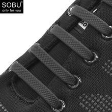 Cipőfűző 16db / szett 2018 Új cipőnagy csipke divat futása nem kötött szilikon cipőfűző N011