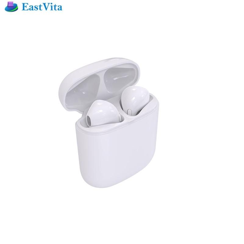 EastVita the newest  mini wireless bluetooth earphone 4.2  Sound  Noise Cancellation headset with charger box for mobile phone remax 2 in1 mini bluetooth 4 0 headphones usb car charger dock wireless car headset bluetooth earphone for iphone 7 6s android