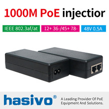 POE 30 watt injector Gigabit POE Injector Ethernet power for POE IP Camera Phone Wireless AP PoE Power Supply стоимость
