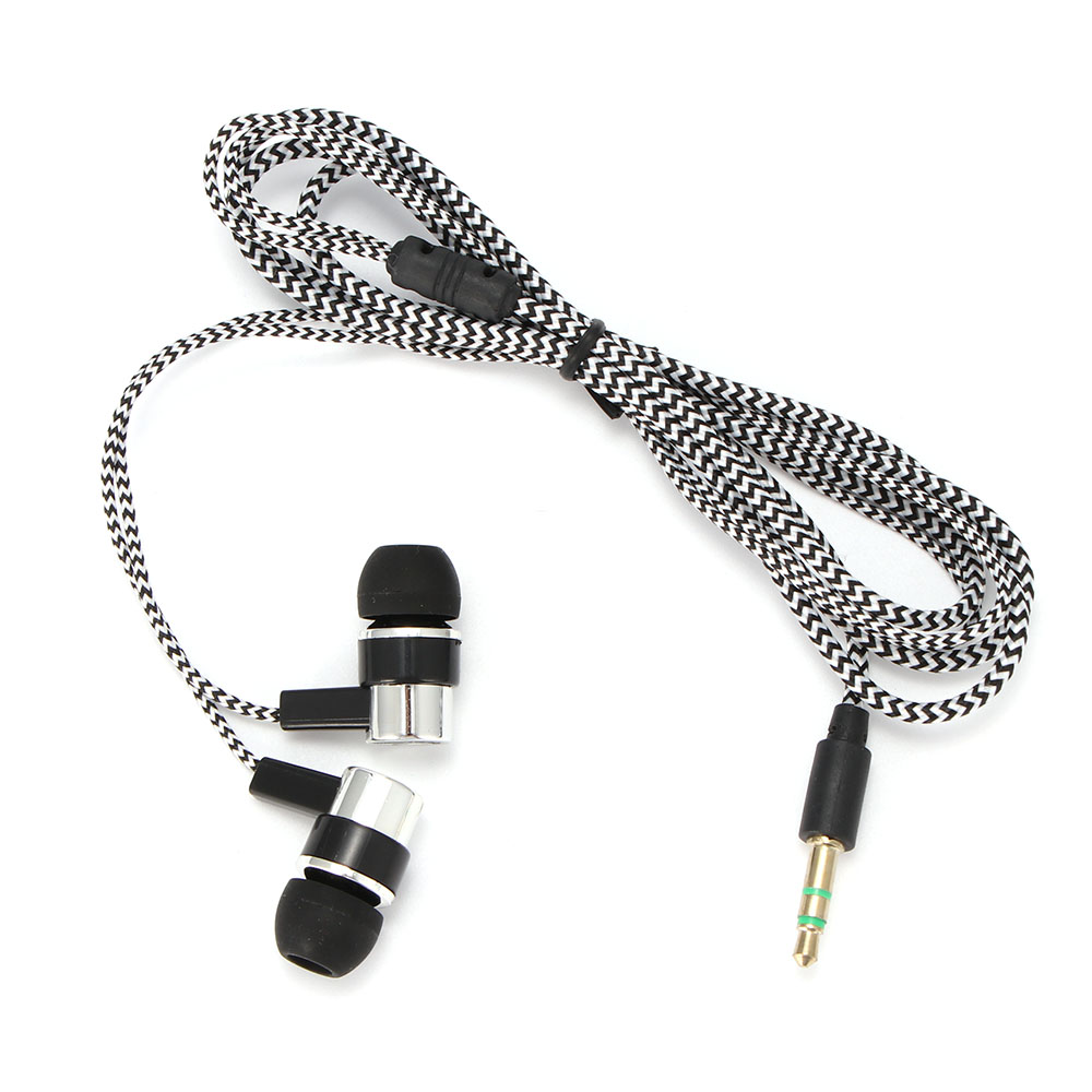 Head phone 3.5mm In-ear Headset Braided Earphone Cable In Ear Earbuds Support wholesale dropshiping buy more gets more discounts image