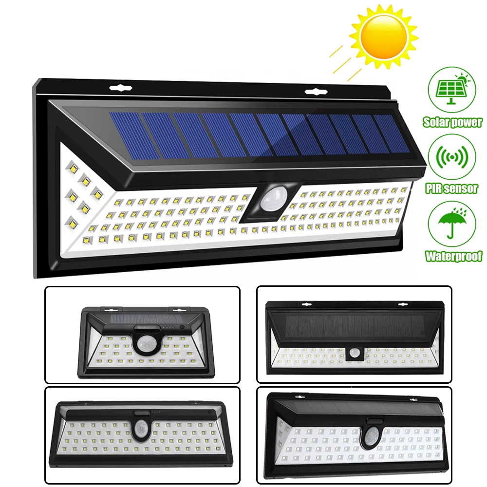 LED Solar Wall Lights PIR Motion Sensor Security Waterproof Wide Angle Outdoor Wall Lighting Garden Separable 3 Modes Wall Lamp