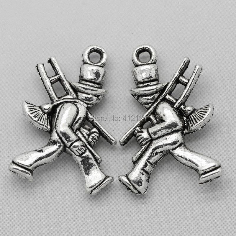 450 Stks Silver Tone Charm Hangers Schoorsteen Veegmachine DIY Sieraden Maken Component 20x14mm-in Hangers van Sieraden & accessoires op  Groep 1