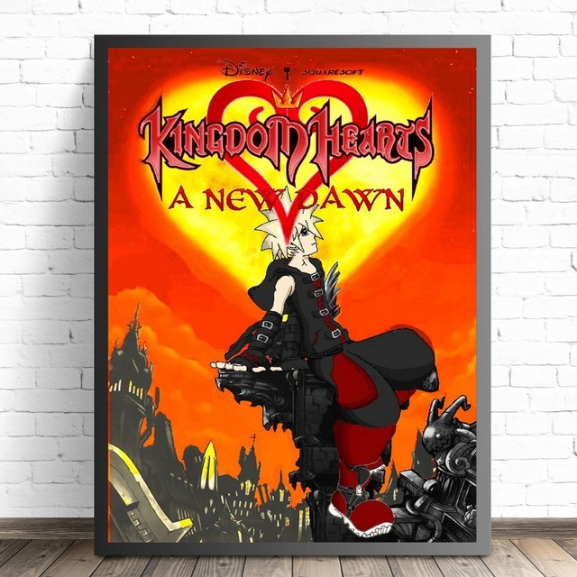 Kingdom Hearts Cartoon Remix Design Posters And Prints Canvas Art Painting Wall Pictures For Living Room Decoration Home Decor 3