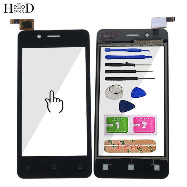 """4.0"""" Mobile Touch Screen For Fly FS408 Stratus 8 Touch Screen Glass Digitizer Panel Lens Sensor Glass Tools Adhesive Wipes"""