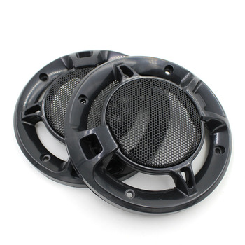 One Pair Universal 4.6inch Speaker Cover Black Woofer Auto Sound Audio Speaker Grills Plastic Cover Metal Grills 139mm For Cars circle