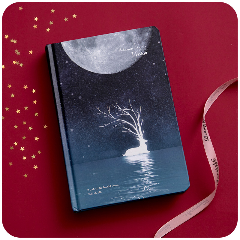 Cute Color Pages Diary Agenda Graffiti A5 Starry Night Notebook Sketchbook Watercolor Drawing School Diary Korea Stationery