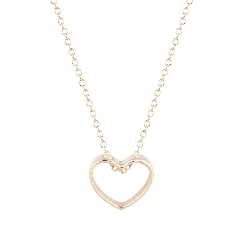 CHENGXUN 2018 Hot Sale 50pcs/lot Wholesale Large Heart Pendant in Solid Openwork Love Nacklace Gift for Women and Girls