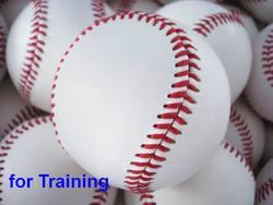 Treinamento beisebol núcleo de borracha macia ou núcleo de cortiça dura não para liga de bastão de beisebol, cerca de 140g 9 Polegada diâmetro de circunferência 70mm