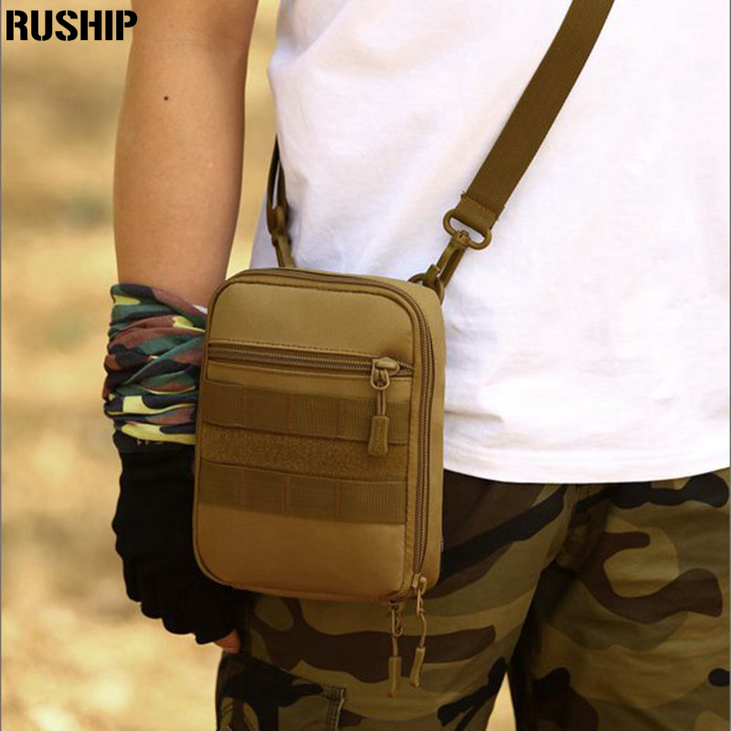 Waist Belt Bag Travel Nylon 1000D Fanny Pack Waist Bag Molle Money Phone Pouch Shoulder Sports bag tool arranging sub packets