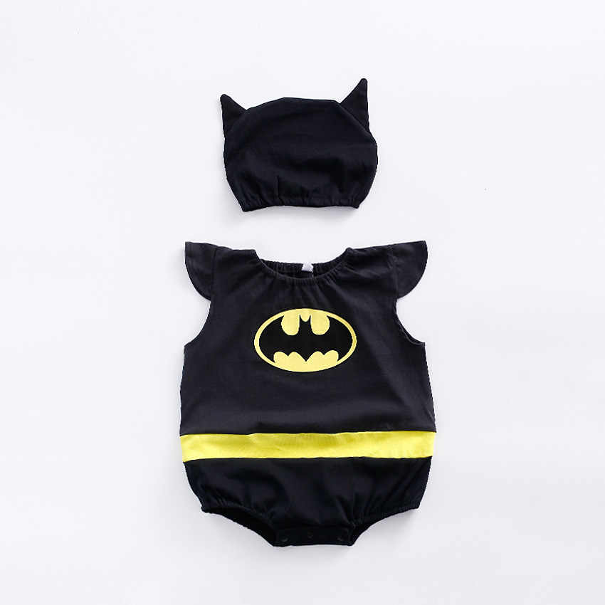 Infant Baby Super Hero One Piece Jumpsuit with Hat 2pcs Set Little Hero Costume Chinese Wukong Outfits Boy Sleeveless Rompers