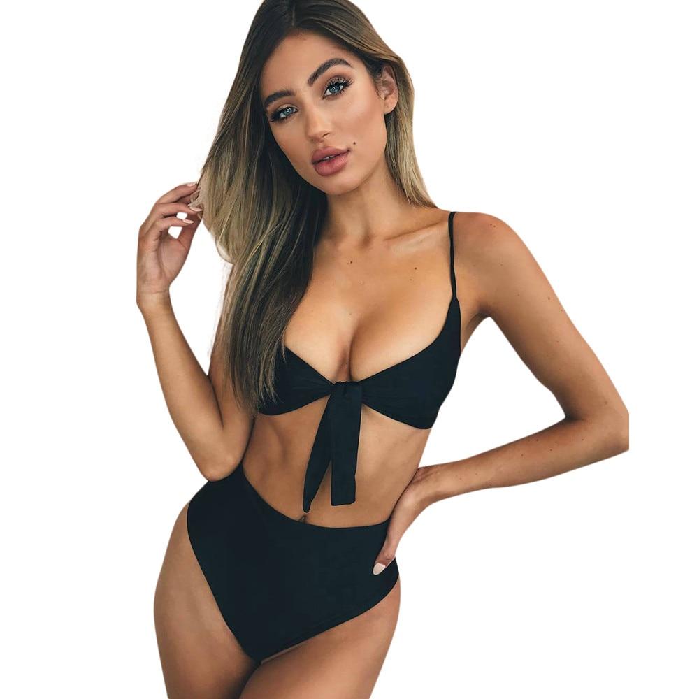 4cdc51e115 US $5.21 25% OFF|Hot Sale Womens Bikini Set Swimsuit High Waist Ladies  Bathing Suit Swimwear Beachwear Womens Swimwear 2018 Bathing Suit-in  Bikinis ...