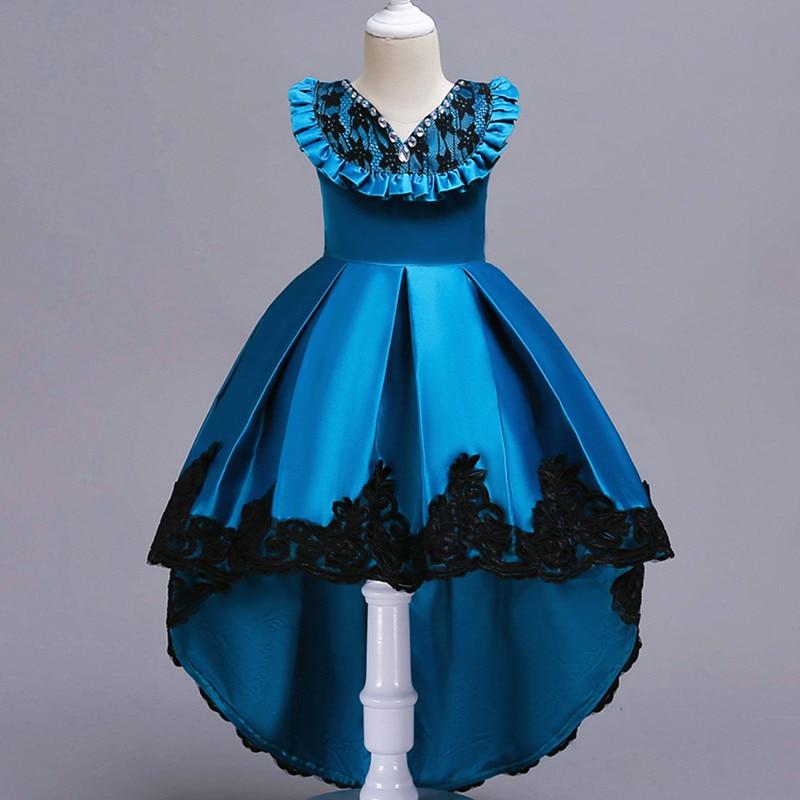Girls dresses wedding party princesses Christmas dresses girls party costumes trailing girls lace kids dresses for