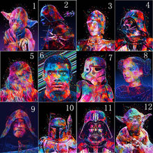 5D Diy Diamond Painting Star War Full Round Square Embroidery Cross Stitch Kit Paint Mosaic Decoration