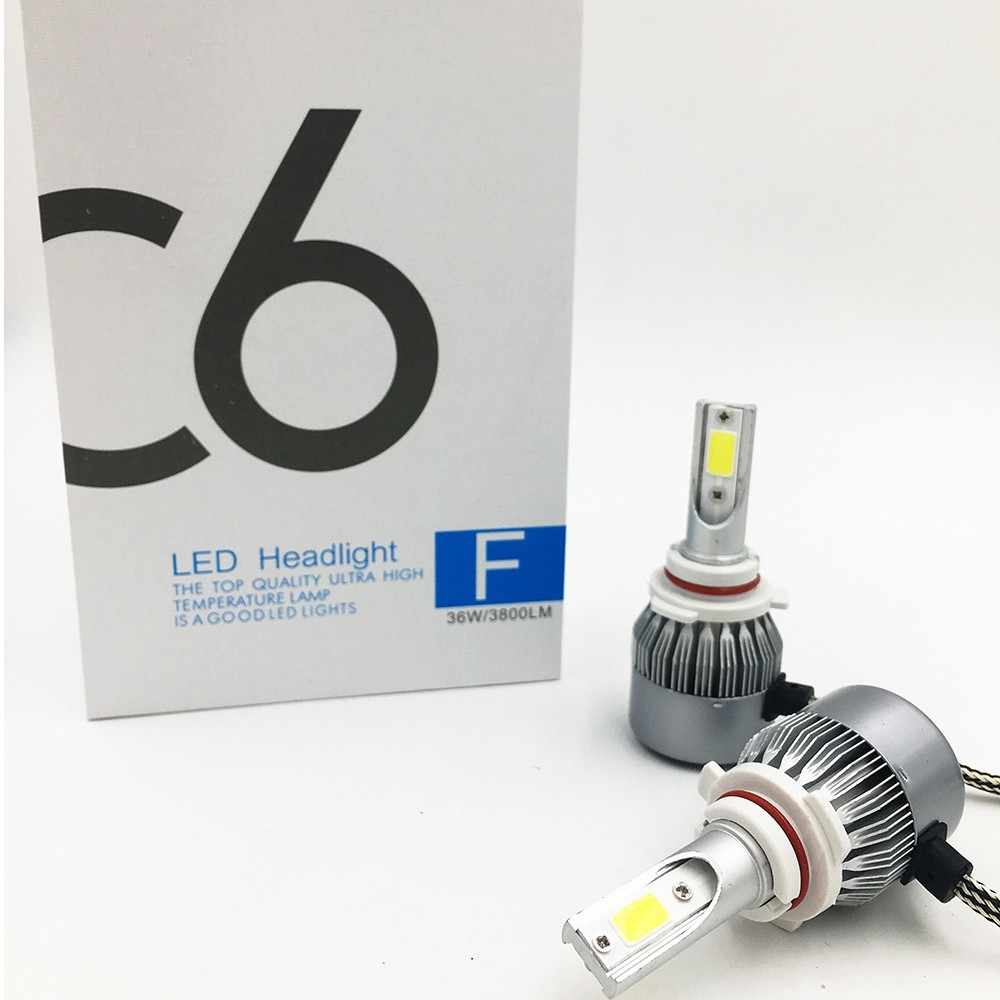 FREE SHIPPING, CHEAPEST C6 9005 AUTO BULB KIT LIGHTS 72W 7600LM, LED LAMP WITH