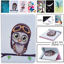 цены на Case For Samsung Galaxy Tab 4 7.0 SM T230 T231 T235 Cartoon Lovely Owl Bear Patterns Tablet Case Cover Stand shell coque para  в интернет-магазинах