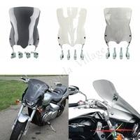 Papanda Motorcycle Smoke Clear Dark Gray Windscreens Windshield Deflectors for Suzuki Boulevard M109R M50 M90 2006 2016