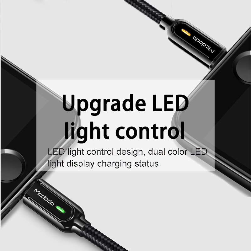 10Pcs/lot Mcdodo USB Cable LED 2A for iPhone iOS13 XS Max XR X 8 7 6s Plus Cord Fast Charging Auto disconnect Charger Data Cable