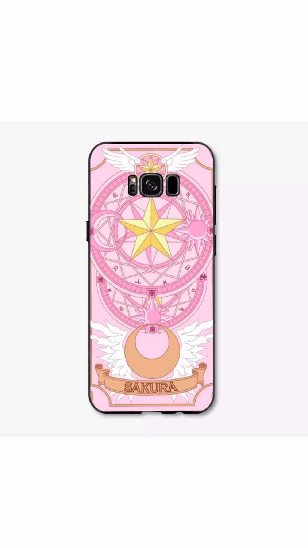 Clow Card Captor Sakura мультфильм аниме прекрасный розовый пластиковый мягкий силиконовый чехол для samsung galaxy S7/S6 edge