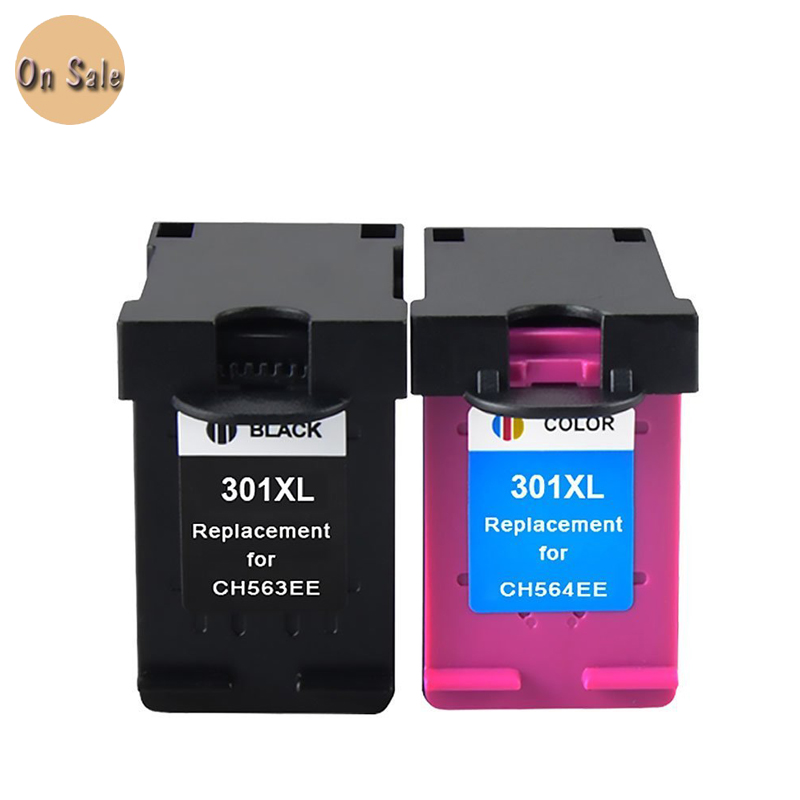 for hp 301xl black and color ink cartridge for hp301 for hp 301 xl deskjet 1000 1050 1051 1055. Black Bedroom Furniture Sets. Home Design Ideas