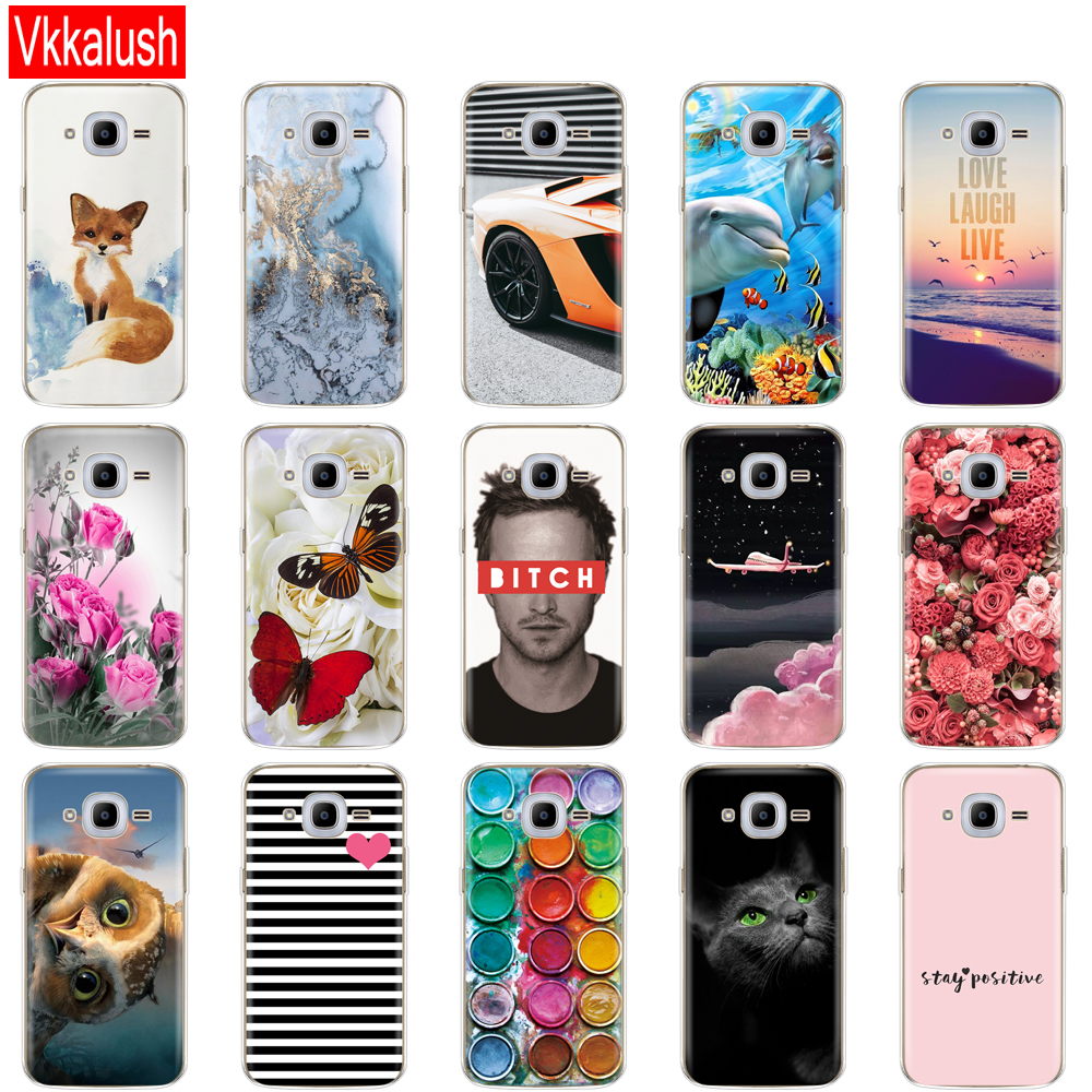 Image 4 - Soft TPU Case For Samsung J2 2016 For Galaxy J2 2016 SM  J210 back cover 360 full protective printing transparent case coque-in Fitted Cases from Cellphones & Telecommunications