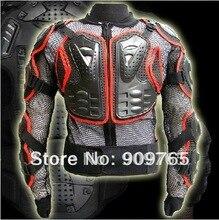 Бесплатная Доставка бездорожью Броня Body Guard Мотоциклов мотокросса Мотоцикл Шлем протектор гоночной куртке Черный Красный