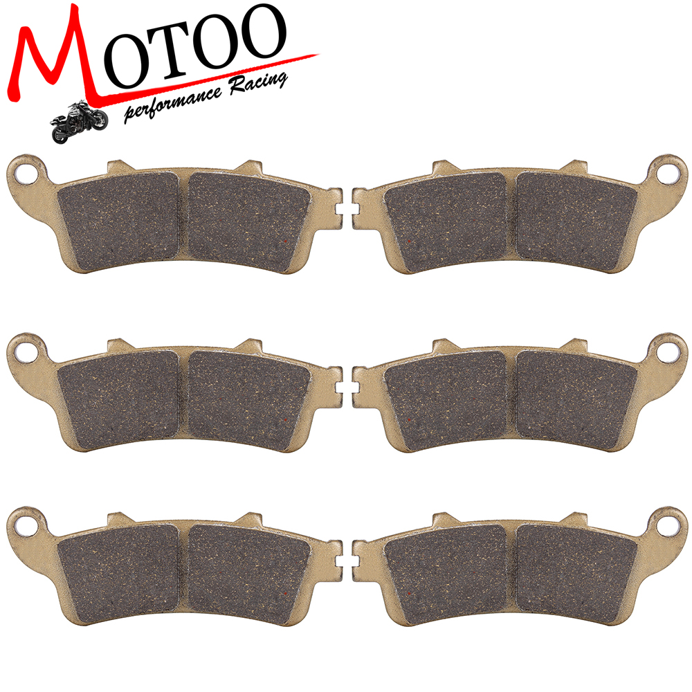 Motoo - Motorcycle Front and Rear Brake Pads For HONDA GL1800 Goldwing (All models) 2001-2017 motoo motorcycle front and rear brake pads for honda xrv750 africa twin 1994 2003