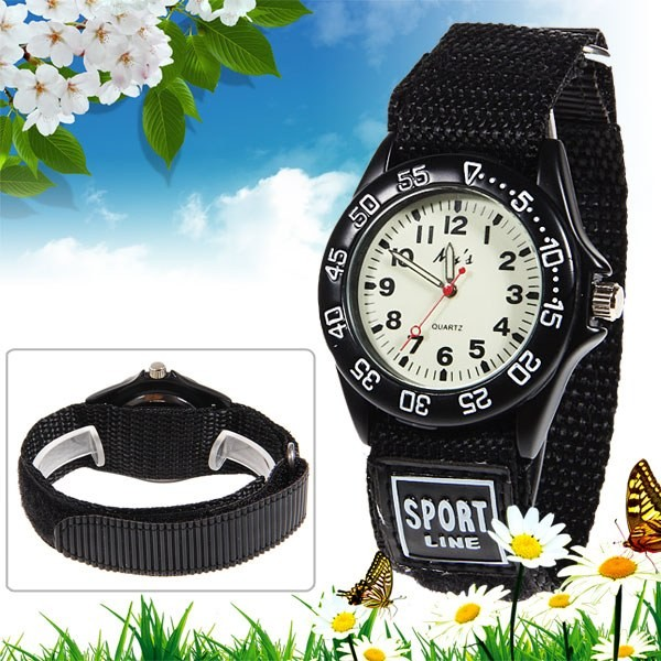 Sports Watch Anti-Sweat-Belt Boy 3D Quartz Luminous Men's