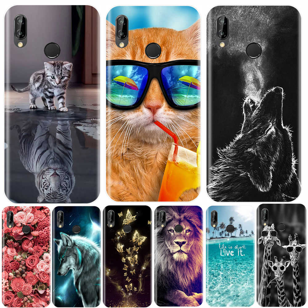 Phone Case For Huawei P20 Pro P9 Lite Mini Soft Silicone Cute Cat Painted Back Cover For Huawei P20 P10 P9 P8 Lite 2017 Case