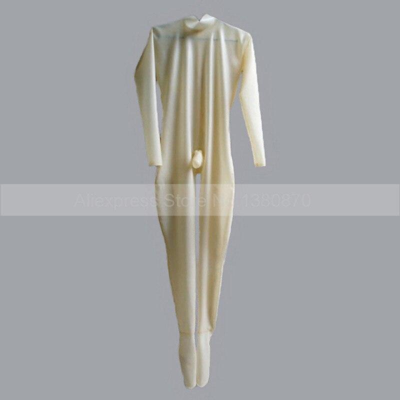 Прозрачный латексный костюм кошки эротический костюмы для мужчин с презервативом петух S LCM014