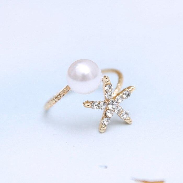 Modeschmuck gold ring  Aliexpress.com : Modeschmuck seesterne und imitation perle ringe ...