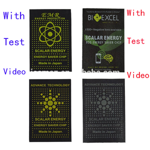 Image 1 - 50pcs EMR Scalar Energy Phone Sticker Anti Radiation Chip Shield Keep Health Laptop Anti EMP EMF Protection for Pregnant Woman