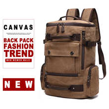 Men Canvas Laptop Backpack Bag Male 15.6'' 17 Inch Notebook Large Travel Bagpack Women Man Teenage School Outdoor Back Pack Bags 2017 hot selling new men s backpack brand school bagpack 15 inch computer bag large capacity lady travel back pack kanpack a065