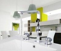 56B Construction Real Estate Bath Fixtures Bath Hardware Sets Bathroom Deck Mounted 3 Pcs Set Faucet