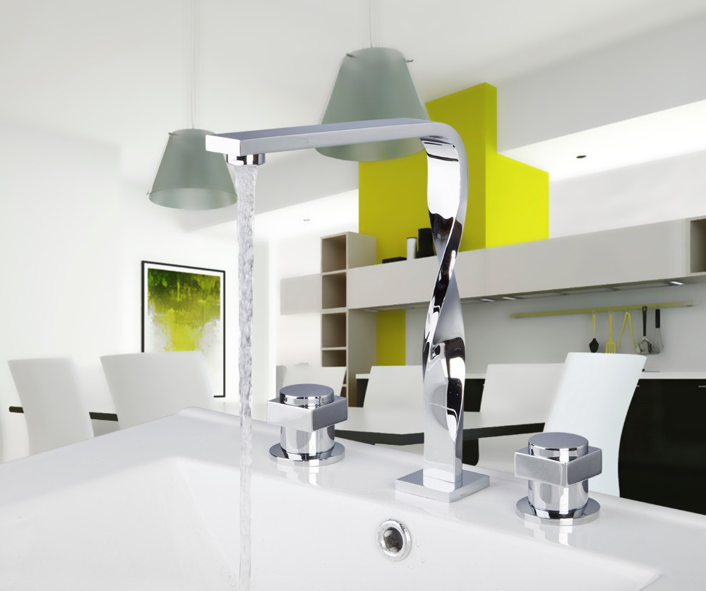 56b Construction Real Estate Bath Fixtures Bath Hardware Sets Bathroom Deck Mounted 3 Pcs Set