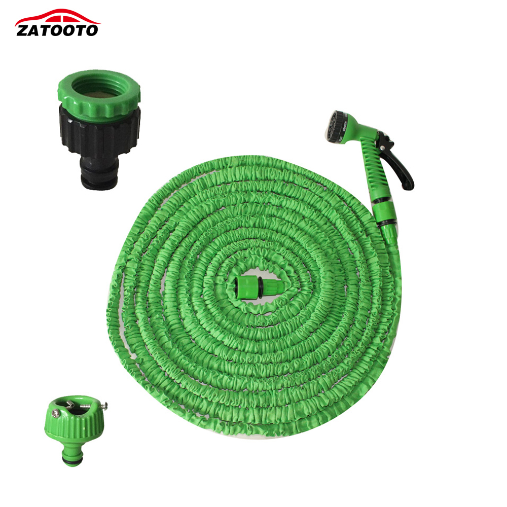 Zatooto 100ft 30m strongest flexible expandable magic garden hose pressure washer car washer car Expandable garden hose 100 ft