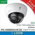 Dahua IPC-HDBW4431R-ZS заменить IPC-HDBW4300R-Z 2.7 мм ~ 12 мм с переменным фокусным расстоянием моторизованный объектив сети 4MP ИК Купольная ip POE камеры видеонаблюдения