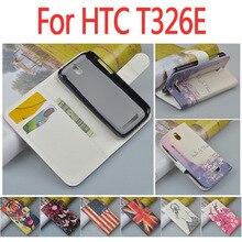 Кожаный чехол для HTC Desire SV T326E/t T326 326 326E e откидная крышка корпуса с desiresv htcsv HTCT326E телефон чехлы